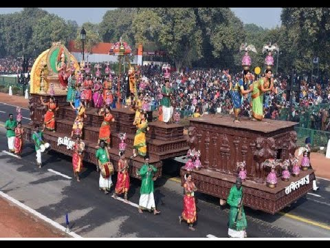 Tamil Nadu tableau republic day parade 2017 |Cultural Heritage of India through Republic Day 2017 HD