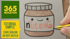 Como Dibujar Nutella Kawaii Paso A Paso Dibujos Kawaii Faciles