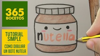 COMO DIBUJAR NUTELLA KAWAII PASO A PASO - Dibujos kawaii faciles - How to draw a NUTELLA