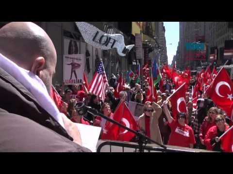Young Turks hold protest in NY against Armenian claims on 1915 incidents