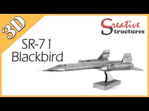 3D metal model & puzzle - SR-71 Blackbird (Aviation)