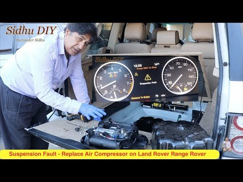 How To Fix Suspension Fault on Land Rover Range Rover | How To Replace Air Compressor for Land Rover