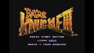 Bare Knuckle III (Mega Drive) - Longplay