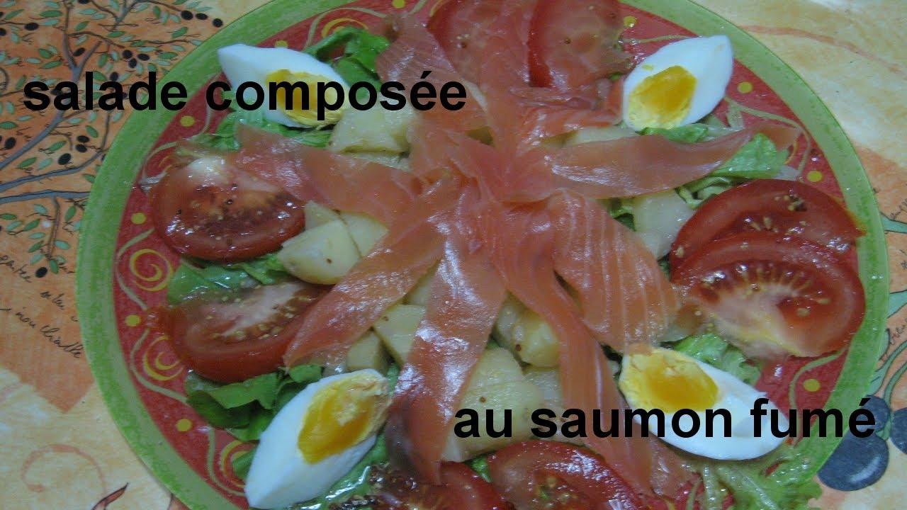 recette : salade composée au saumon fumé - YouTube