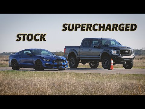 F-150 vs GT350 Street Race | Venom 775 by Hennessey Performance