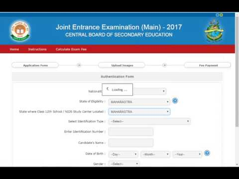 How to fill JEE MAIN 2017 online application form - YouTube Application Form Jee Main on bee application form, job application form, ford application form, web application form, jet application form, jon application form, cat application form,