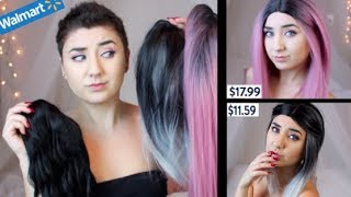 Cheap Wig Haul - Try on, Styling and Reviewing Walmart Wigs