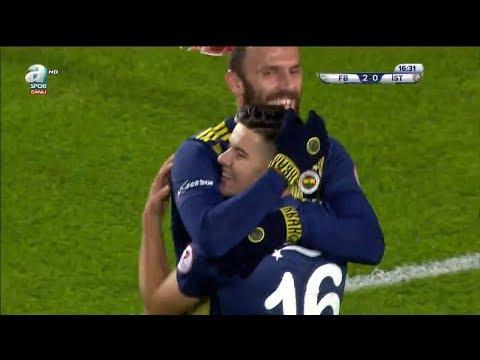 Fenerbahçe 4 - 0 İstanbulspor MAÇ ÖZETİ  (Ziraat Türkiye Kupası 5. Tur İlk Maçı)