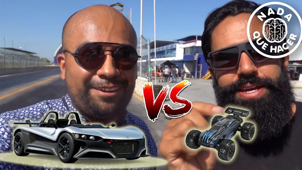 """VUHL Super auto Mexicano de """"Carlos Master Muñoz"""" VS Carro de RC eléctrico  ¡INCREIBLE!  NQUEH"""