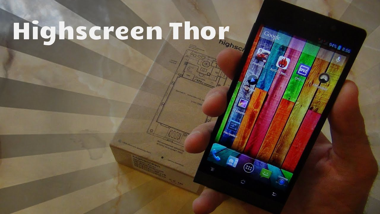 Обзор Highscreen Thor - YouTube