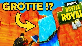 GROTTE SOUS LA CASCADE !? - Fortnite Battle Royale