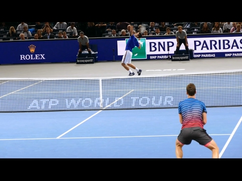 Novak Djokovic vs Thomas Berdych - Court level view