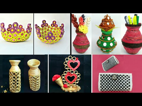 5 ideas of Newspaper craft | best out of waste craft idea | recycle newspaper | HMA##338