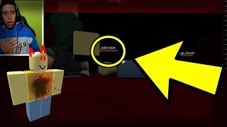 I DON'T BELIEVE IT! JOHN DOE APPEARED ON MY LIVE AND KILLED ME!! (ROBLOX HACKER THREATS)