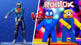 PJ MASKS and MINIONS in the CHALLENGE of the DANCES of FORTNITE on ROBLOX (FORTNITE DANCE CHALLENGE)