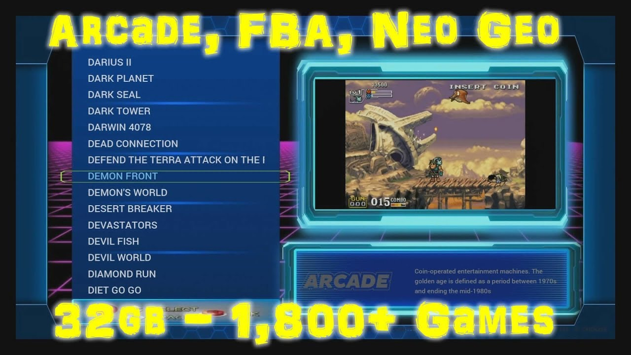 32gb Arcade, Final Burn Alpha, CPS, and Neo Geo Only Build - Arcade