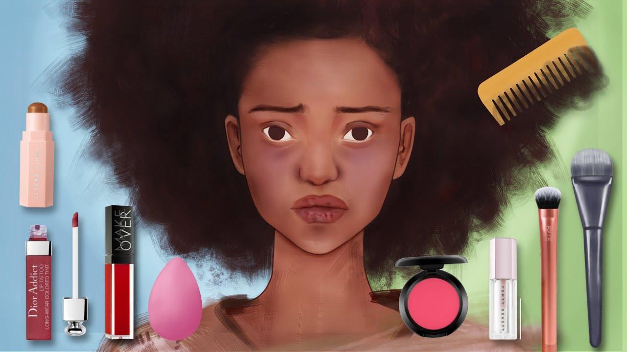 HOMELESS TRANSFORMATION // BLACK BEAUTY MAKEUP ANIMATION // Homeless to Goddess