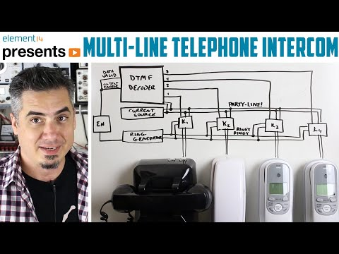 Multi-Line Telephone Intercom
