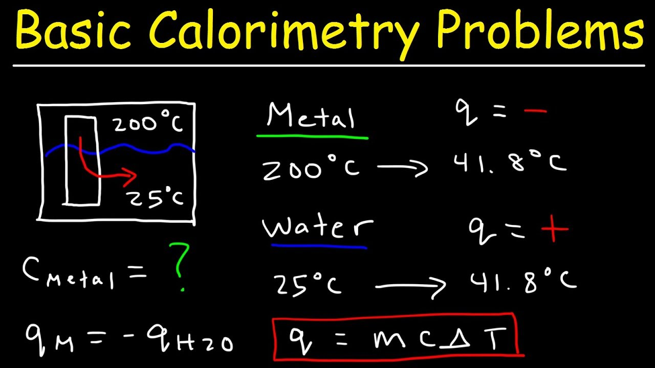 How To Solve Basic Calorimetry Problems in Chemistry