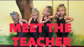 QUADS MEET THEIR FIRST SCHOOL TEACHER
