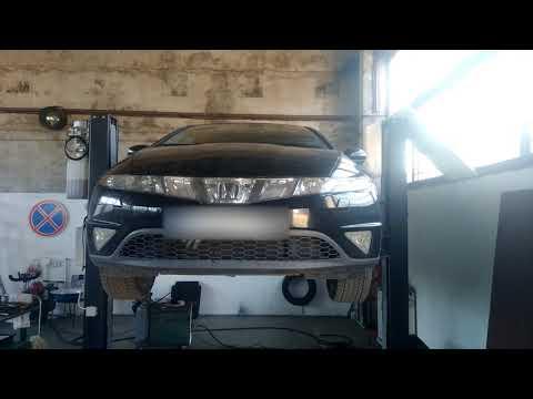 Honda Civic 5D замена защиты тормозного диска.