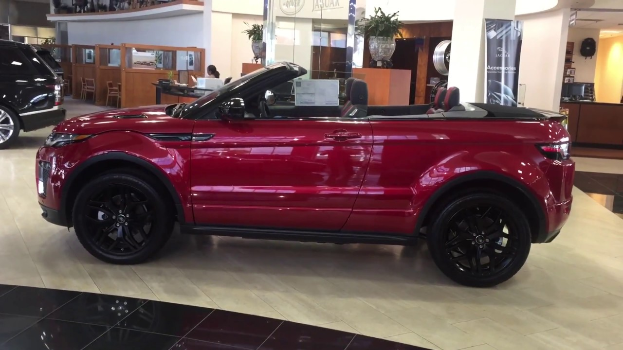 2017 Range Rover Evoque Convertible in Firenze Red - YouTube