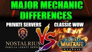 TOP 7 Mechanic Changes We'll See in Classic WoW Coming From Private Servers