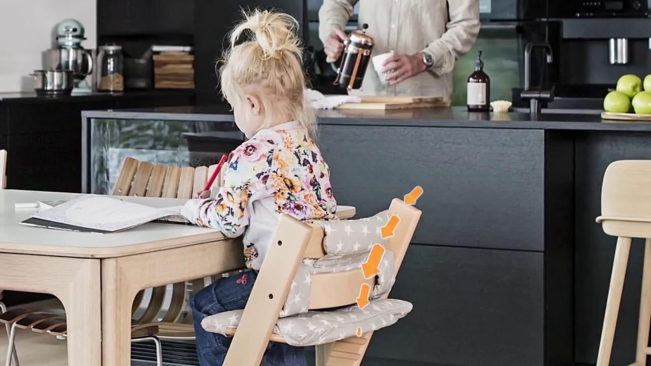 trona beb tripp trapp stokke como usarla abitare kids barruguet youtube. Black Bedroom Furniture Sets. Home Design Ideas
