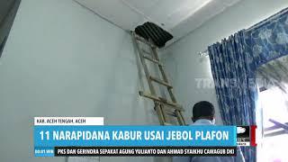 11 Narapidana di Aceh Besar KABUR Usai Jebol Plafon