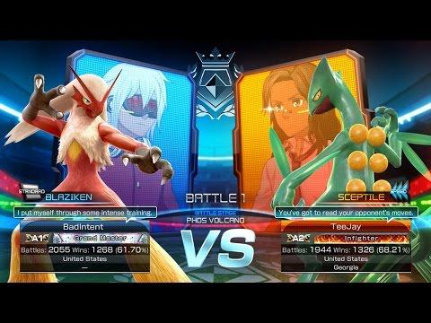 Pokken Tournament: BadIntent (Blaziken) vs TeeJay (Sceptile) First to 10