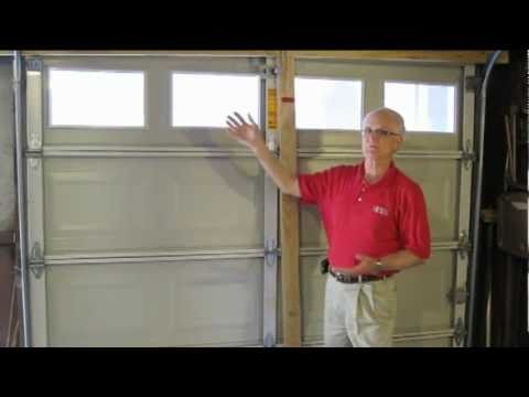 Garage Door Brace hurricane tip - garage doors - youtube