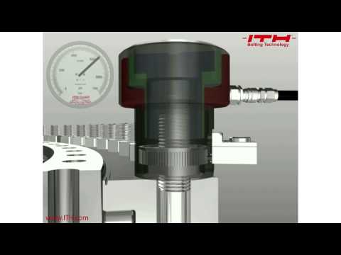 Hydraulic bolt tensioning: method explained in 49 seconds