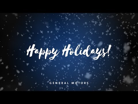 Happy Holidays from General Motors – 2017