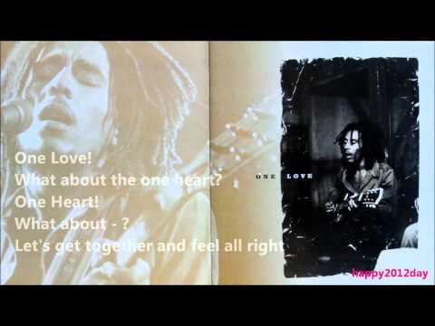 ONE LOVE [HQ Audio Lyrics]  Bob Marley