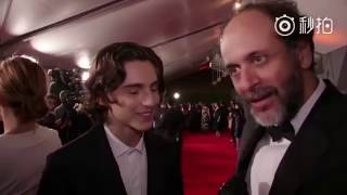 Timothée Chalamet speaks French!! Armie Hammer Call me by your name Premiere by Cine+ and Canal+ streaming