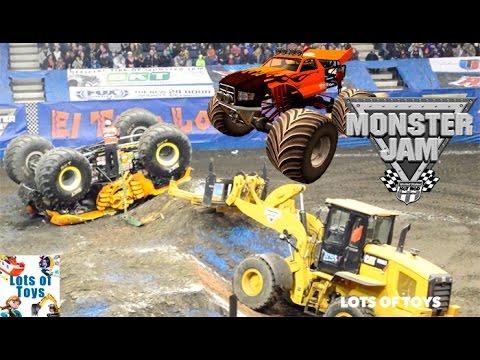 Monster Jam Truck Crash Show!!! Monster Trucks Tricks, ATV Race, Mighty Machines