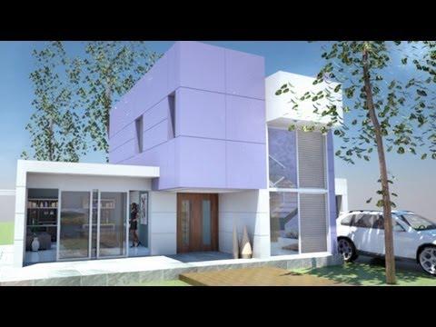 Planos casa moderna de 2 pisos m x m m for Casa moderna minimalista 6 00 m x 12 50 m 220 m2
