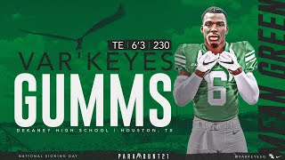 A north texas football world premiere starring newest mean green family member te var'keyes gumms from houston, tx. #paramount21meangreensports.com