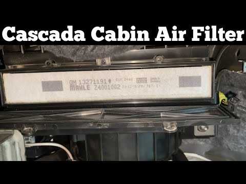 How To Change A 2016 – 2019 Buick Cascada Cabin Air Filter – Remove Replace Replacement Location
