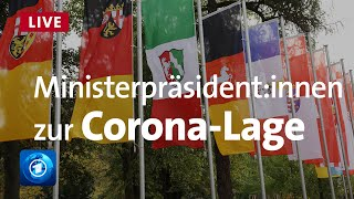 Ministerpräsident:innen äußern sich zu Corona-Winter | Livestream