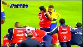 Ecuador vs Uruguay eliminatorias 2014 [1-0] Ecuador clasifica al Mundial Brasíl 11/10/2013