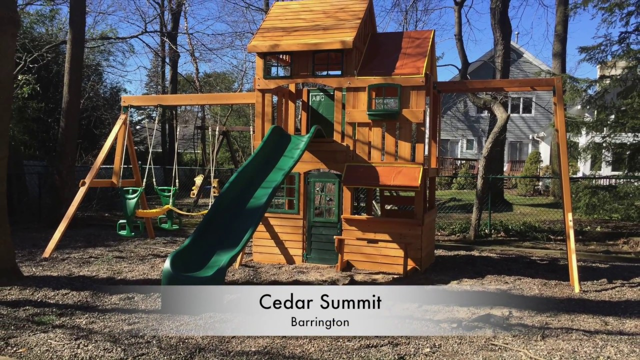 Cedar Summit Barrington Playset Youtube