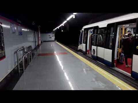 Metro de Madrid:8061 saliendo de Colombia