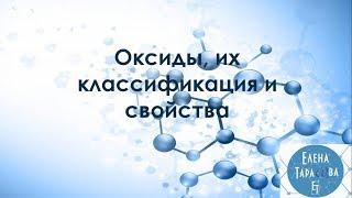 Оксиды, их классификация и свойства. Химия 8 класс