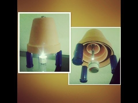 Candle-Powered Space Heater - Frugal Energy Saving Tips | ByWayOfBicycle