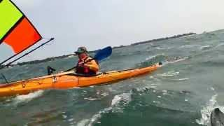 Kayak Sailing with Falcon Sails - Reaching South end of Kelleys Island Thumbnail