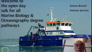 Marine Biology and Oceanography: Admission Talk Open Day 2020