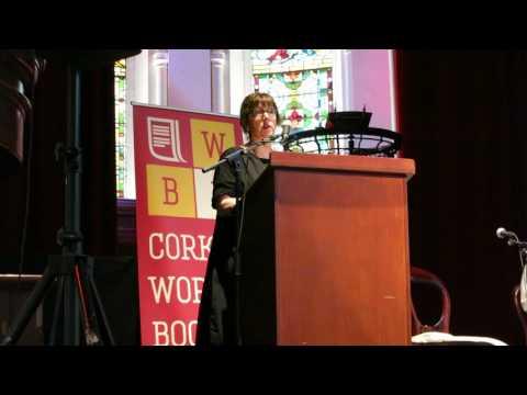 Lauren B. Davis reading from her novel Against A Darkening Sky at Cork World Book Festival