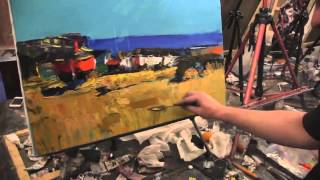 "Видеоурок Сахарова ""Как научиться рисовать берег,море"" живопись для начинающих, уроки рисования"