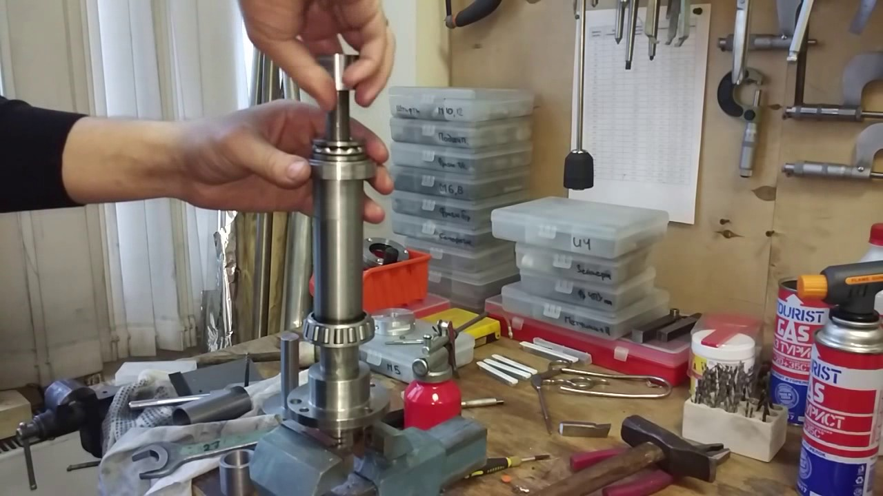 Как одеть конический подшипник на шпиндель токарного станка Корвет-401